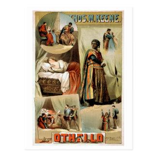 Othello Vintage Theater Poster Postcard
