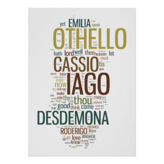 Othello Word Mosaic Poster