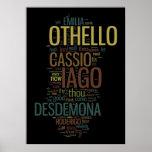 Othello Word Mosaic Print