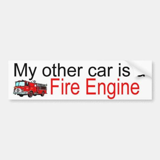 other car fire bumper sticker