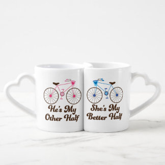 Other Half Better Half Couple Valentine Mug Set