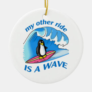 OTHER RIDE IS A WAVE CHRISTMAS ORNAMENT