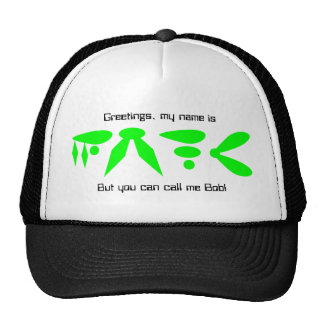 Other World Alien Writing Cap