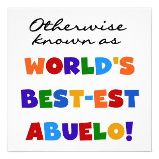 Otherwise Known As Best-est Abuelo Custom Invites