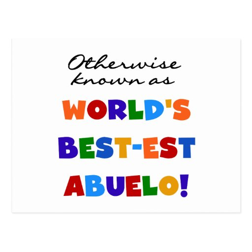 Otherwise Known As Best-est Abuelo Postcard