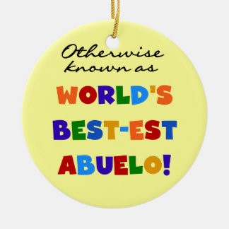 Otherwise Known As Best-est Abuelo Round Ceramic Decoration