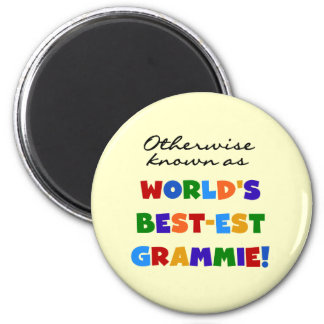 Otherwise Known as Best-est Grammie Gifts 6 Cm Round Magnet