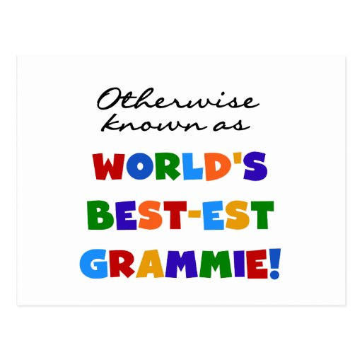 Otherwise Known as Best-est Grammie T-shirts Post Card
