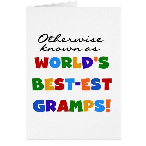 Otherwise Known as Best-est Gramps Cards
