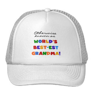 Otherwise Known as Best-est Grandma Gifts Mesh Hats