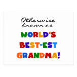 Otherwise Known as Best-est Grandma Gifts Post Card
