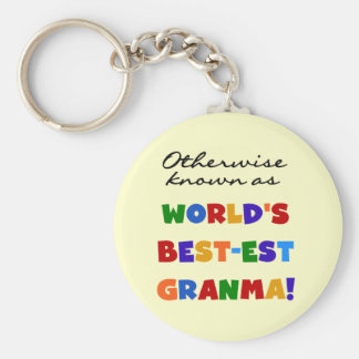 Otherwise Known as Best-est Granma Gifts Keychain