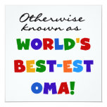 Otherwise Known as Best-est Oma Tshirts and Gifts Personalized Announcement