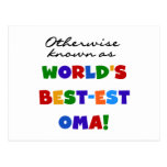 Otherwise Known as Best-est Oma Tshirts and Gifts Postcard