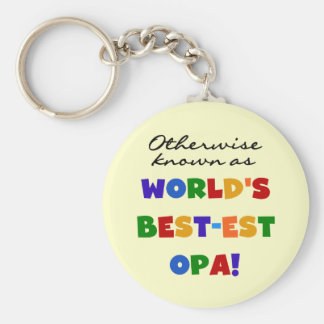 Otherwise Known as Best Opa T-shirts and Gifts Basic Round Button Key Ring
