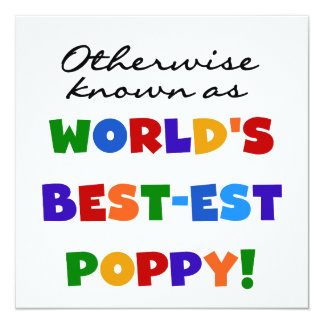 Otherwise Known Best-est Poppy Tshirts and Gifts Personalized Announcement