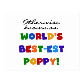 Otherwise Known Best-est Poppy Tshirts and Gifts Postcard
