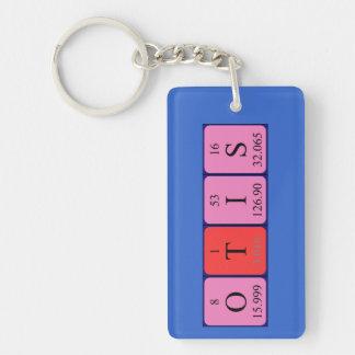 Otis periodic table name keyring Single-Sided rectangular acrylic key ring
