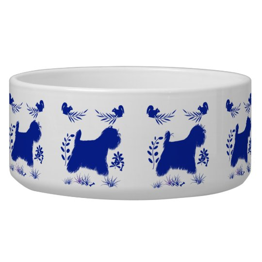 Otomi Inspired Westie Large Size Pet Bowl