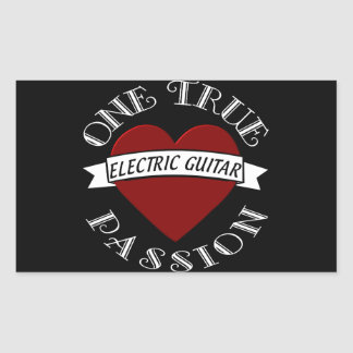 OTP Electric Guitar Rectangle Stickers