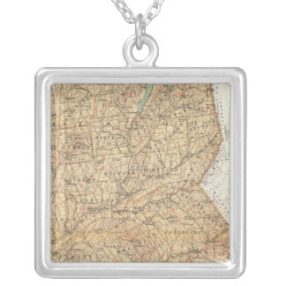 Otsego, Delaware counties Silver Plated Necklace