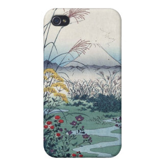 Otsuki fields by Hiroshige, Vintage Japanese Print iPhone 4 Cases