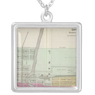 Ottawa City and Williamsburg, Kansas Silver Plated Necklace