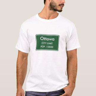 Ottawa Kansas City Limit Sign T-Shirt