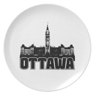 Ottawa Skyline Plate