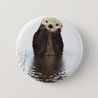Otter 6 Cm Round Badge