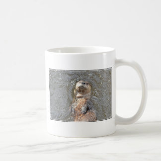 Otter Back Float Basic White Mug