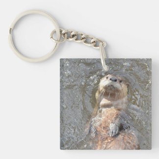 Otter Back Float Key Ring