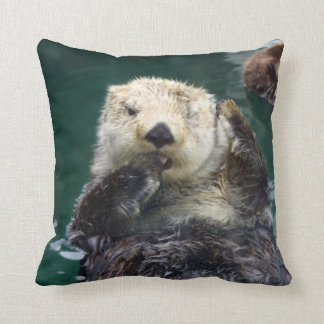 Otter Bed-Head Throw Pillow