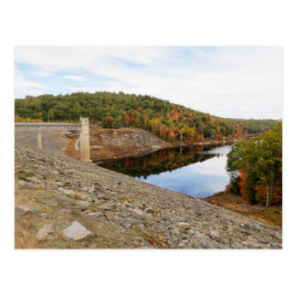 Otter Brook Dam in Autumn Postcard