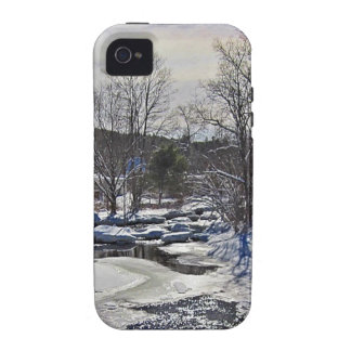 Otter Brook Winter Scene iPhone 4/4S Cover