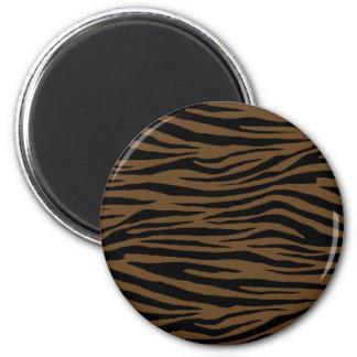 Otter Brown Tiger 6 Cm Round Magnet
