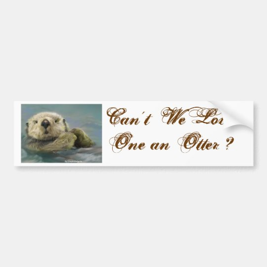 Otter Bumper Sticker