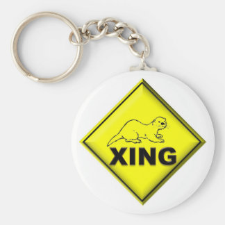Otter Crossing Key Ring