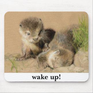 otter cubs mousepad