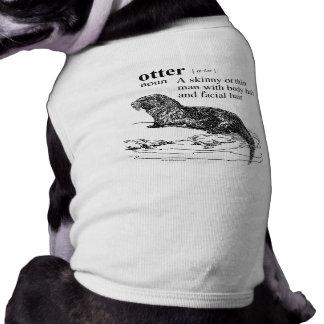 OTTER SLEEVELESS DOG SHIRT