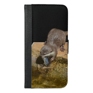 Otter Eating Tasty Fish, iPhone 6/6s Plus Wallet