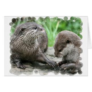 Otter Habitat Greeting Cards