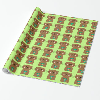 Otter Heart Wrapping Paper