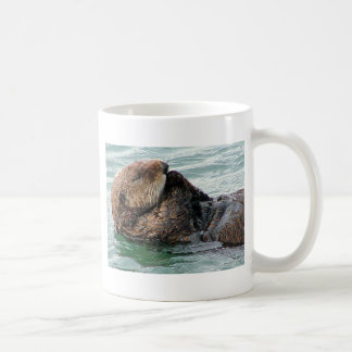 otter in prayer coffee mug