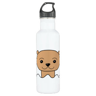 Otter in Water. 710 Ml Water Bottle