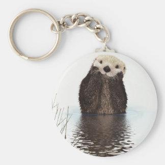 Otter Basic Round Button Key Ring