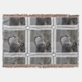 Otter Mastermind Throw Blanket
