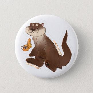 Otter n' Goldfish 6 Cm Round Badge