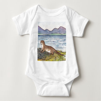 otter of the loch baby bodysuit