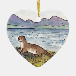 otter of the loch christmas ornament